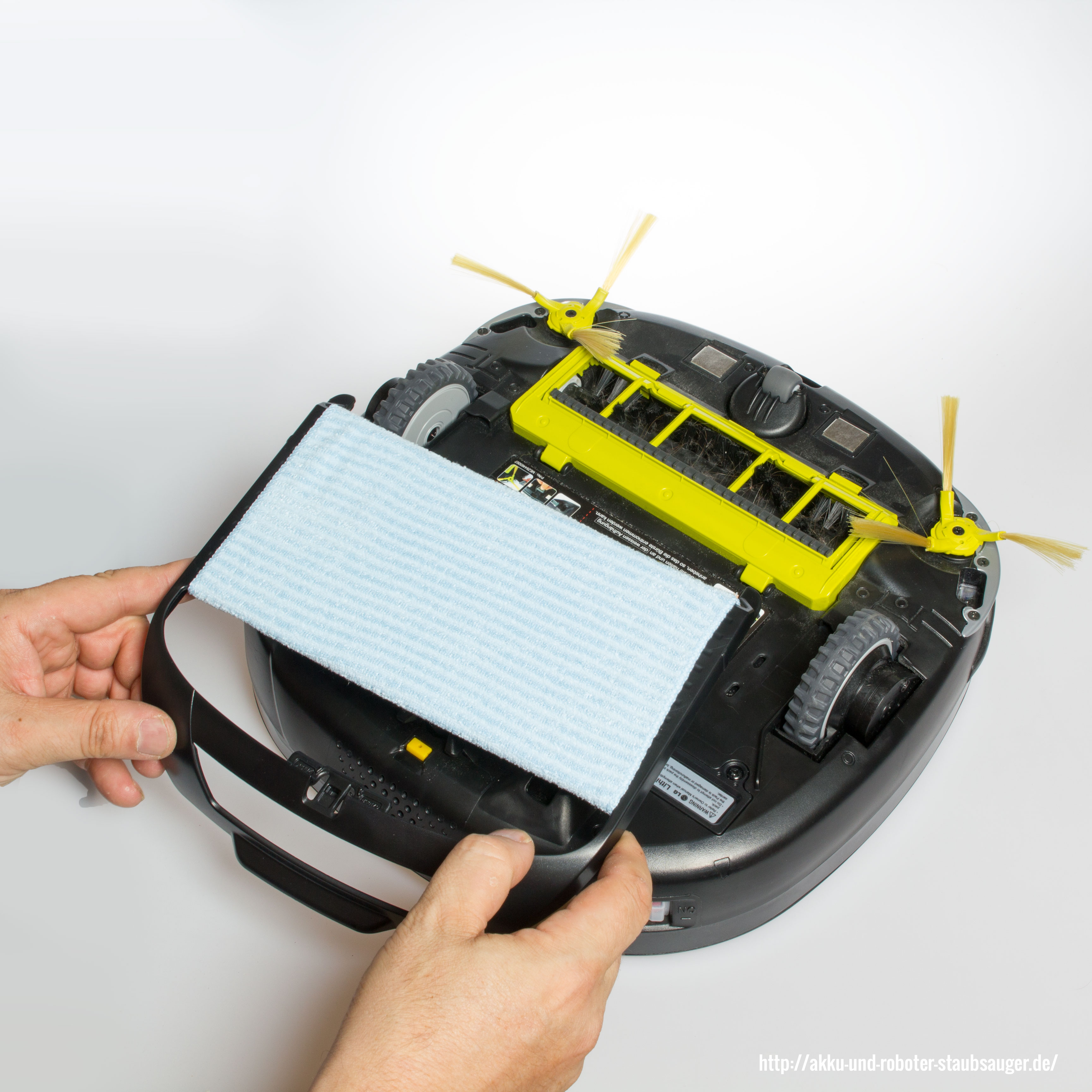 hombot lg vr6270lvmb mop aufsatz akku und roboter staubsauger. Black Bedroom Furniture Sets. Home Design Ideas