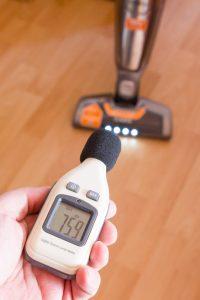 Lautstärke Messung beim Ergorapido