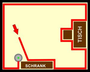 Fahrstrategie Wandverfolgung