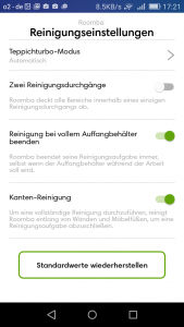 screen-irobot-roomba-980-reinigung-standard