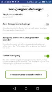 screen-irobot-roomba-980-reinigung-standard