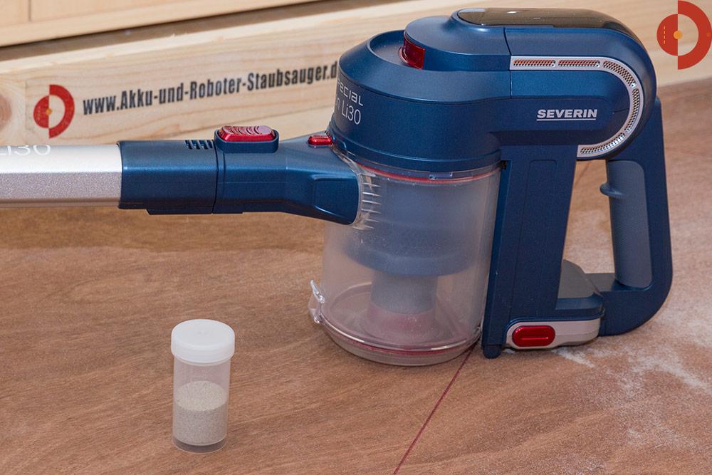 test-severin-hv7158-quarzsand-testergebnis-mit-buerste
