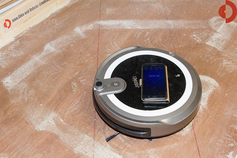 test-jisiwei-i3-roboter-katzenstreu-sand-problem3