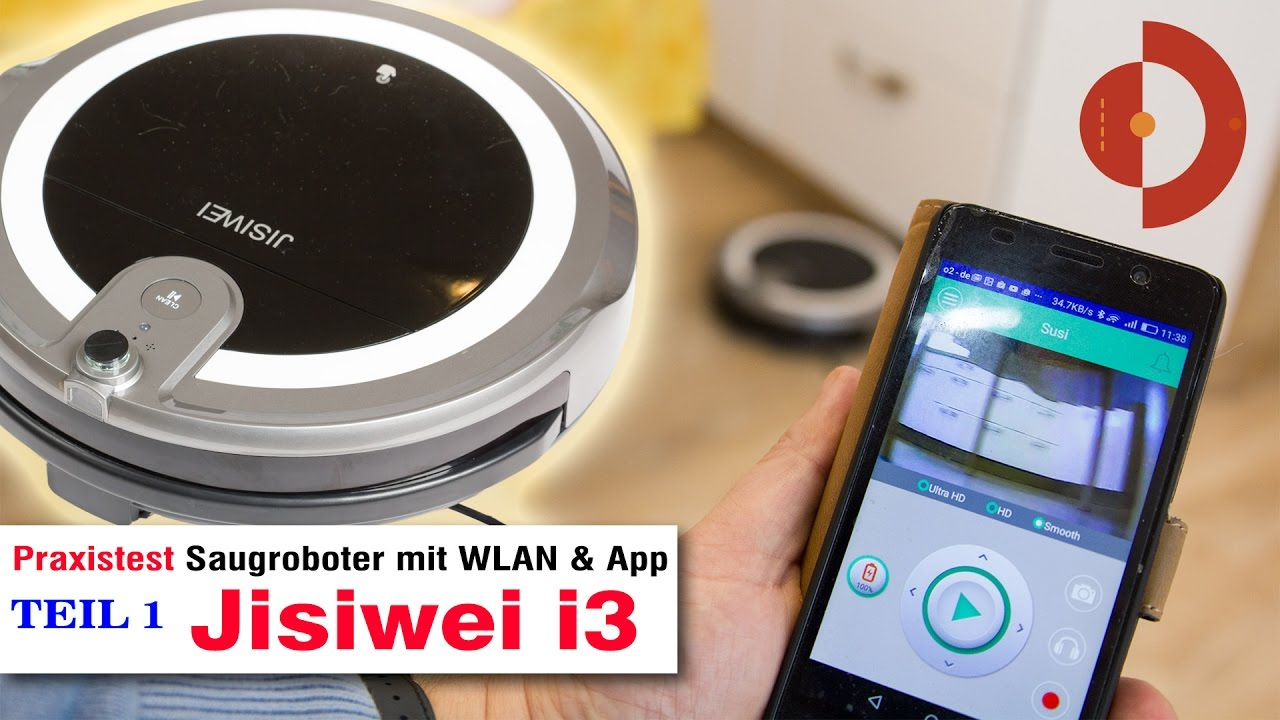 jisiwei i3 test der wlan roboterstaubsauger mit kamera. Black Bedroom Furniture Sets. Home Design Ideas