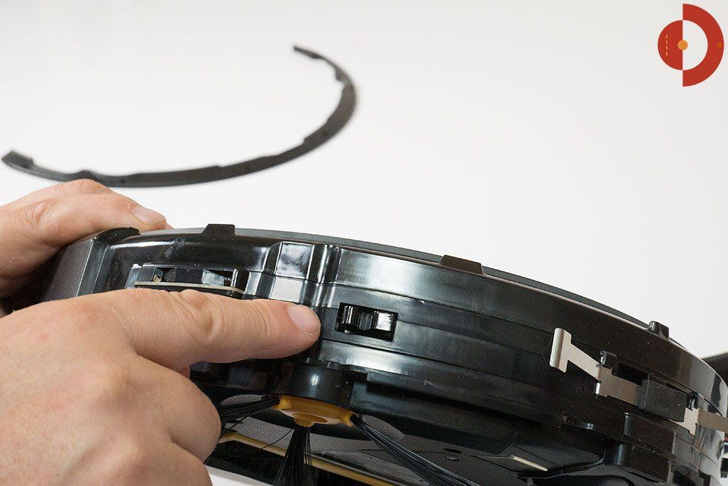 eufy-RoboVac-11-Testflaeche-Eingeklemmter-Schalter