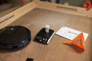 eufy-RoboVac-11-Testflaeche-Schmutzmatten-Test-fertig