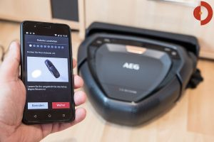 AEG-RX9-Saugroboter-Test-App-Installation