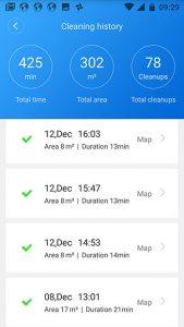 Screenshot-Xiaomi-Roborock-Reinigungsprotokoll