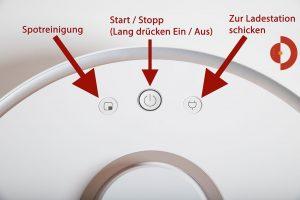 Xiaomi-Roborock-Robotic-Vacuum-Cleaner-Testbericht-Tasten