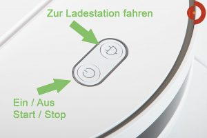 360-Robot-Vacuum-Cleaner-Test-Tasten