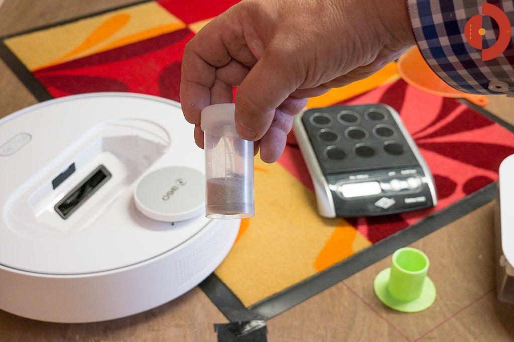 360-S6-Robot-Vacuum-Cleaner-Test-Schmutzmatte-Saugergebnis