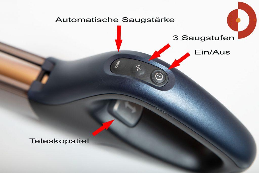 Akkustaubsauger-AEG-FX9-1-IBM-Test-Tasten