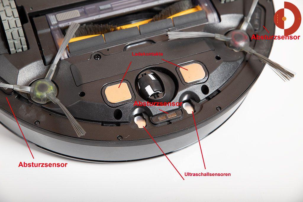 Deebot-OZMO-930-Laser-Sensoren-Unterseite