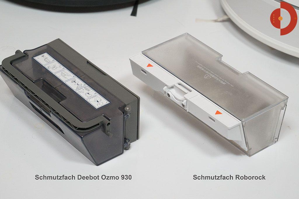 Deebot-OZMO-930-Roborock-Vergleich-Schmutzfach-1