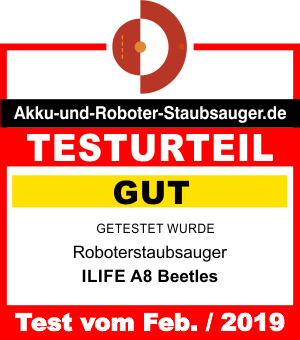 Saugroboter Testergebnis ILIFE A8