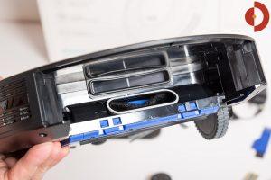 Eufy-RoboVac-30c-Test-Schmutzfach-Aufnahme