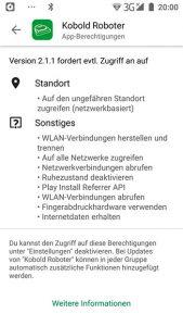 Vorwerk-Kobold-VR300-App-Rechte