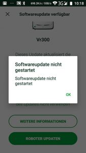 Vorwerk-Kobold-VR300-App-Update-Fehler