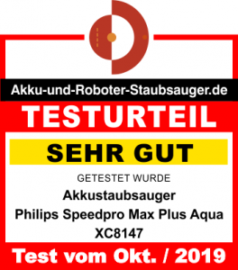 Bewertung-Philips-Speedpro-Max-Plus-Aqua-XC8147-Okt12019