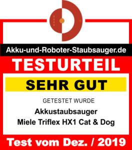 Miele Triflex HX1 Cat Dog Testergebnis