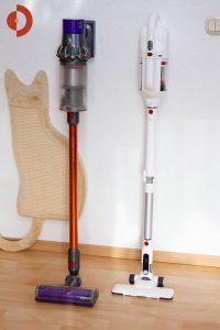 PUPPYOO-T10-Mix-Akkustaubsauger-Test-Groessenvergleich-DysonV10