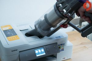 Dyson-V11-Absolute-Test-Drucker-saugen-3