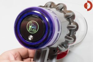 Dyson-V11-Absolute-Test-Dysplay-Laufzeitanzeige-ECO