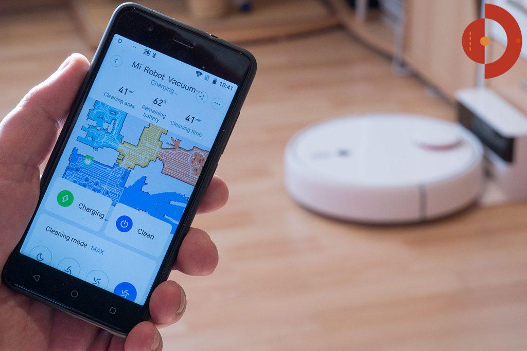 Xiaomi-Mi-Robot-1S-Xiaomi-Mijia-1S-Test-Saugroboter-Smartphone-Raeume