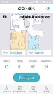 Cecotec-Conga-4090-AppTest-Hauptscreen