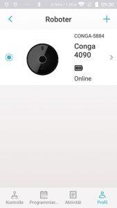 Cecotec-Conga-4090-AppTest-Roboter-hinzufuegen