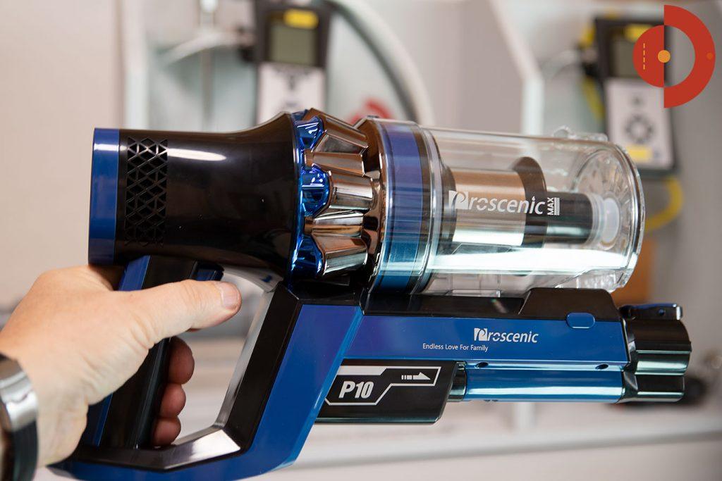 Proscenic-P10-Test-Akku-Staubsauger-Saugleistung-messen-2