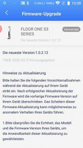 App-Waschsauger-Test-Tineco-Floor-One-S3-Firmware