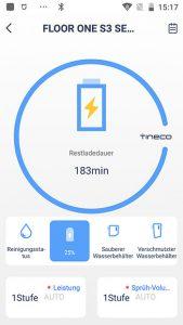 App-Waschsauger-Test-Tineco-Floor-One-S3-Ladezeit