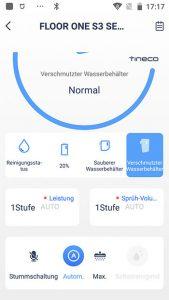 App-Waschsauger-Test-Tineco-Floor-One-S3-Stummschaltung