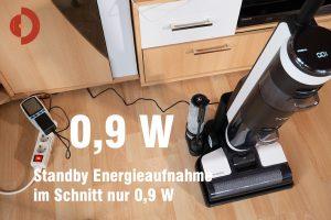 Tineco-Floor-One-S3-Test-Standby-Stromaufnahme