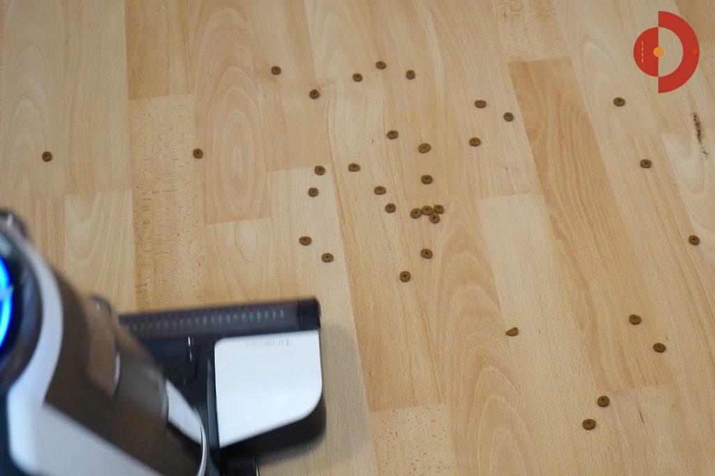 Tineco-Floor-One-S3-Test-Testflaeche-Grobe-Partikel