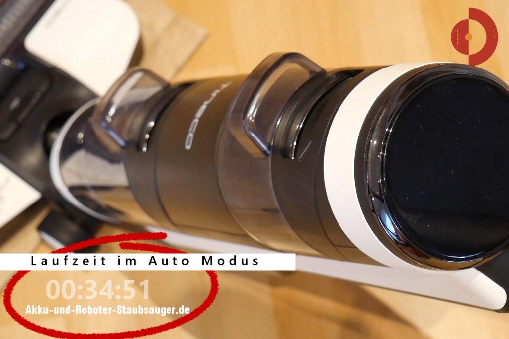 Tineco-Floor-One-S3-Test-Testflaeche-Laufzeit-Auto-Modus