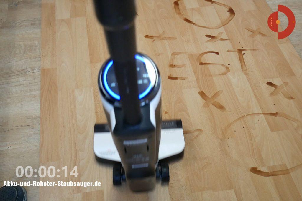 Tineco-Floor-One-S3-Test-Testflaeche-Schokoflecken-1