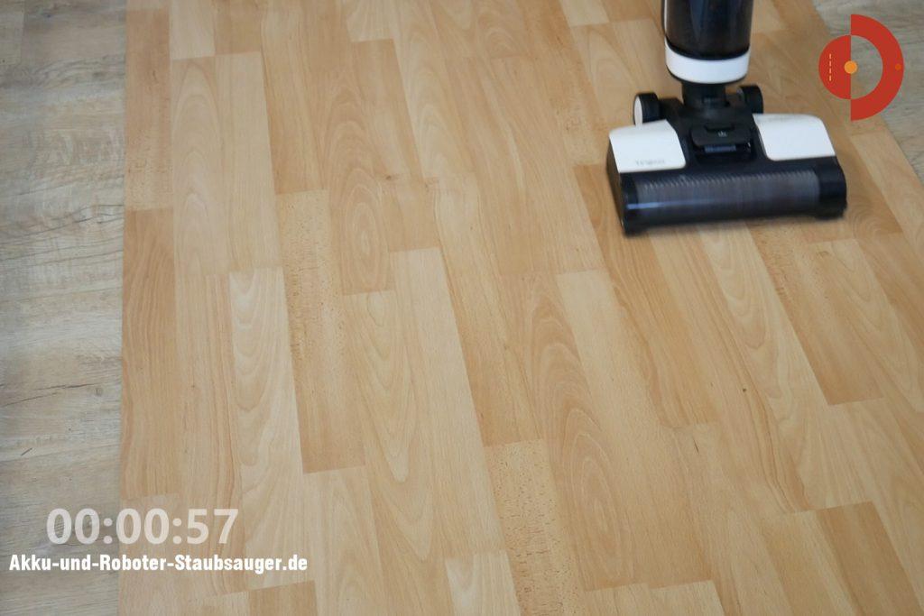 Tineco-Floor-One-S3-Test-Testflaeche-Schokoflecken-2