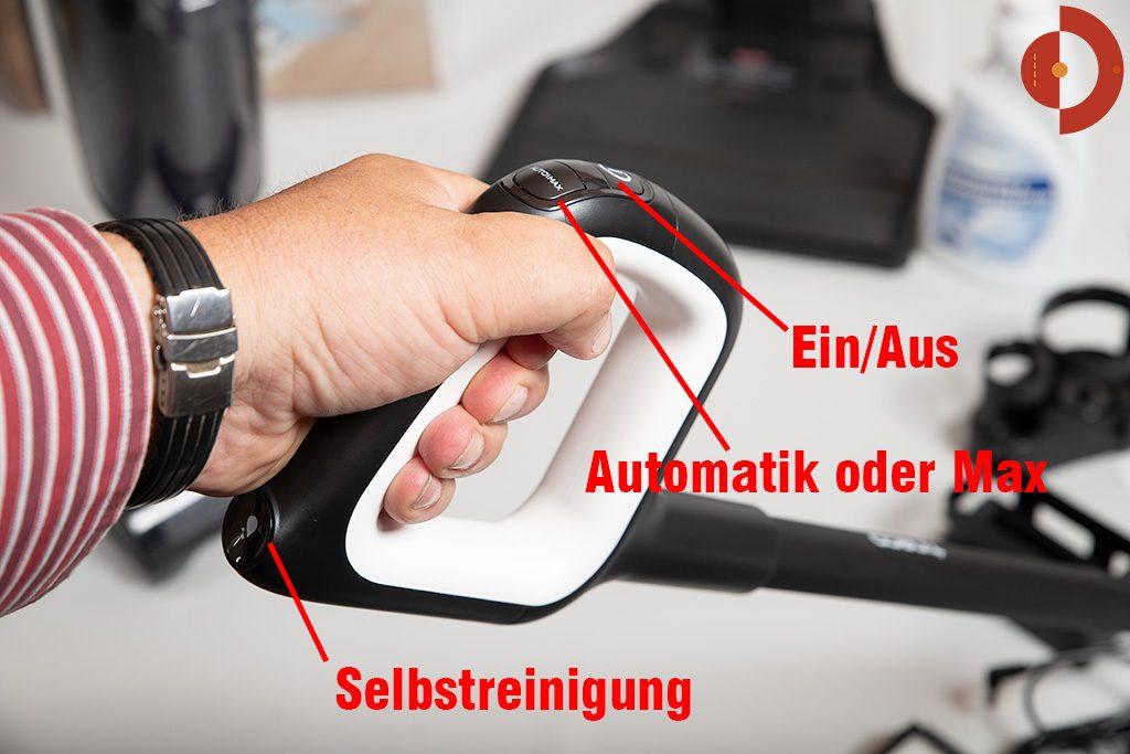 Tineco-Floor-One-S3-Test-Wischsauger-Taster-Griff