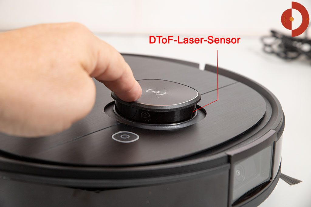 Ecovacs-Deebot-Ozmo-T8-AIVI-Test-vorn-1360--DToF-Laser-Sensor-2