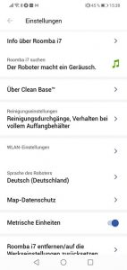 App-iRobot-Roomba-i7-Plus-Einstellungen