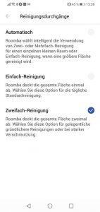 App-iRobot-Roomba-i7-Plus-Einstellungen-Reinigungsdurchgaenge