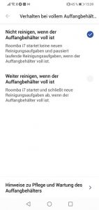 App-iRobot-Roomba-i7-Plus-Einstellungen-Verhalten