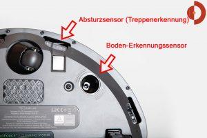 iRobot-Roomba-i7-Plus-Test-Boden-Erkennung-Sensor
