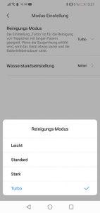 Dreame-D9-App-Bedienung-Reinigungsmodus-Saugstufen