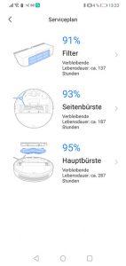 Dreame-D9-App-Bedienung-Serviceplan