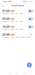 Dreame-D9-App-Bedienung-Timer-Programmierung