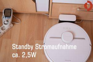 Xiaomi Dreame D9 Test Standby-Stromaufnahme