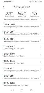 App-Dreame-Bot-L10-Pro-Test-Verlauf